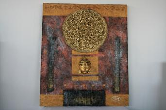 Tableau Bouddha relief